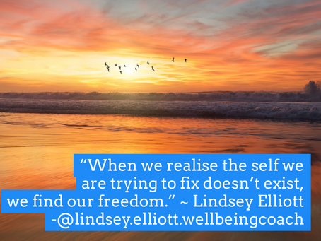 The self we are trying to fix doesn't exist.
