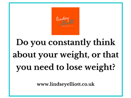 "Client transformation story:      ""I'll be happy when I lose weight""."