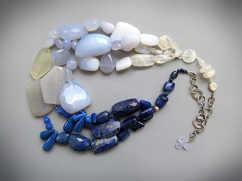 Ombre Blue Necklace