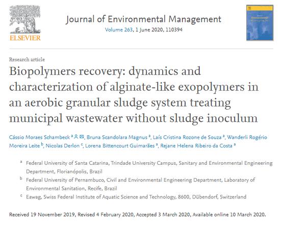 Artigo de engenheiro do IMA sobre biopolímeros é publicado em revista científica