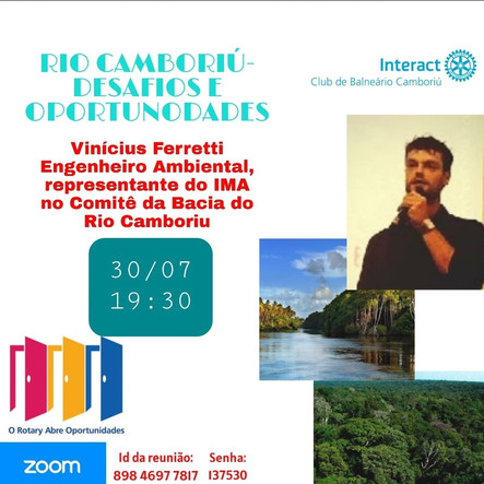 Analista do IMA apresenta palestra sobre o Rio Camboriú