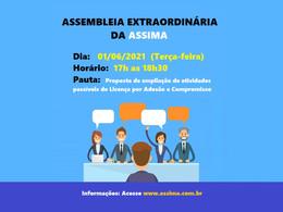 CONVOCAÇÃO PARA ASSEMBLEIA DO DIA 01/06/2021