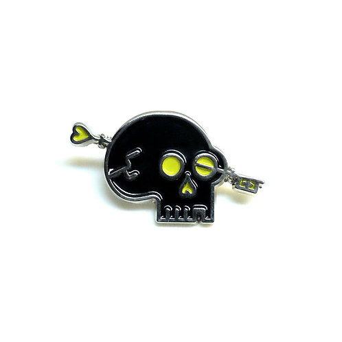 Skull Key Logo Pin
