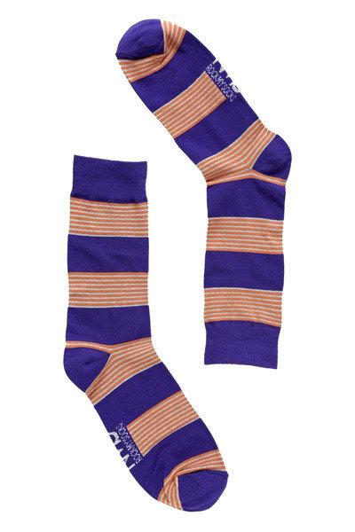 Purple Skinny Striped Socks