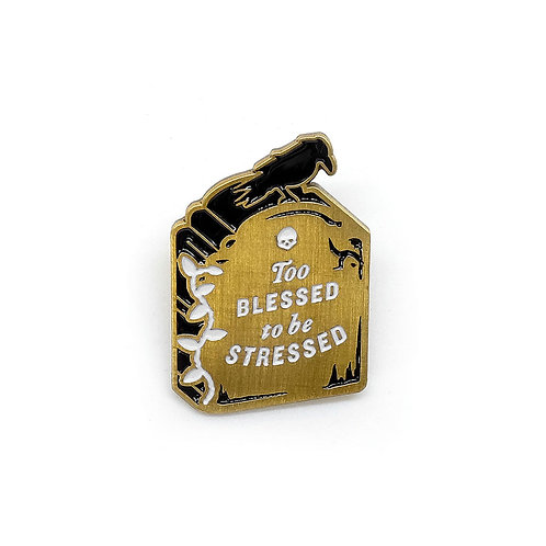 #Blessed Tombstone Pin