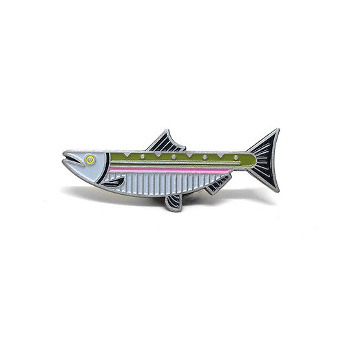 Steelhead Salmon Pin