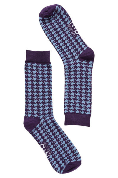 Purple Houndstooth Socks