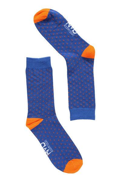 Blue & Orange Cross Socks