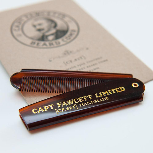 Captain Fawcett - Folding Pocket Beard Comb