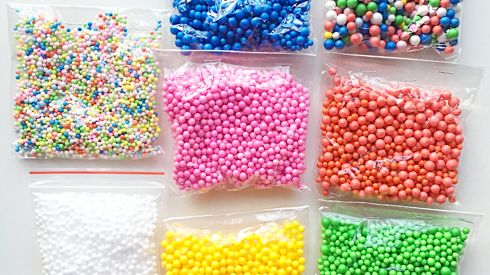 FOAM BEADS - ASSORTED COLOURS