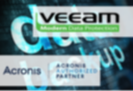 INTECH Backup & Disaster Recovery Partners: VEEAM & Acronis.