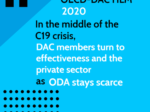 Amidst the C19 crisis, DAC members turn to effectiveness and the private sector as ODA stays scarce