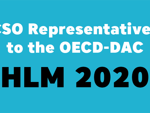 Call for Nominations - CSO Representatives to the OECD-DAC High-Level Meeting 2020