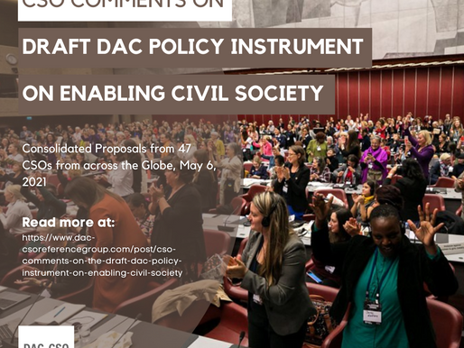 CSO comments on the draft DAC Policy Instrument on Enabling Civil Society