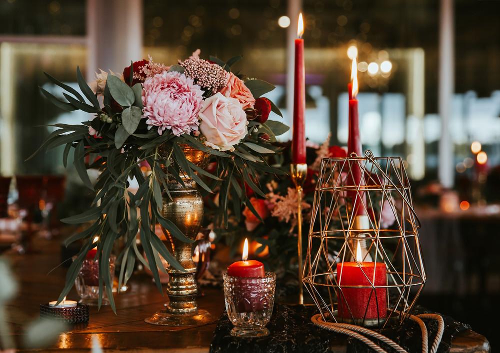 Weihnachtlicher Hochzeitstisch wedding Wiesbaden