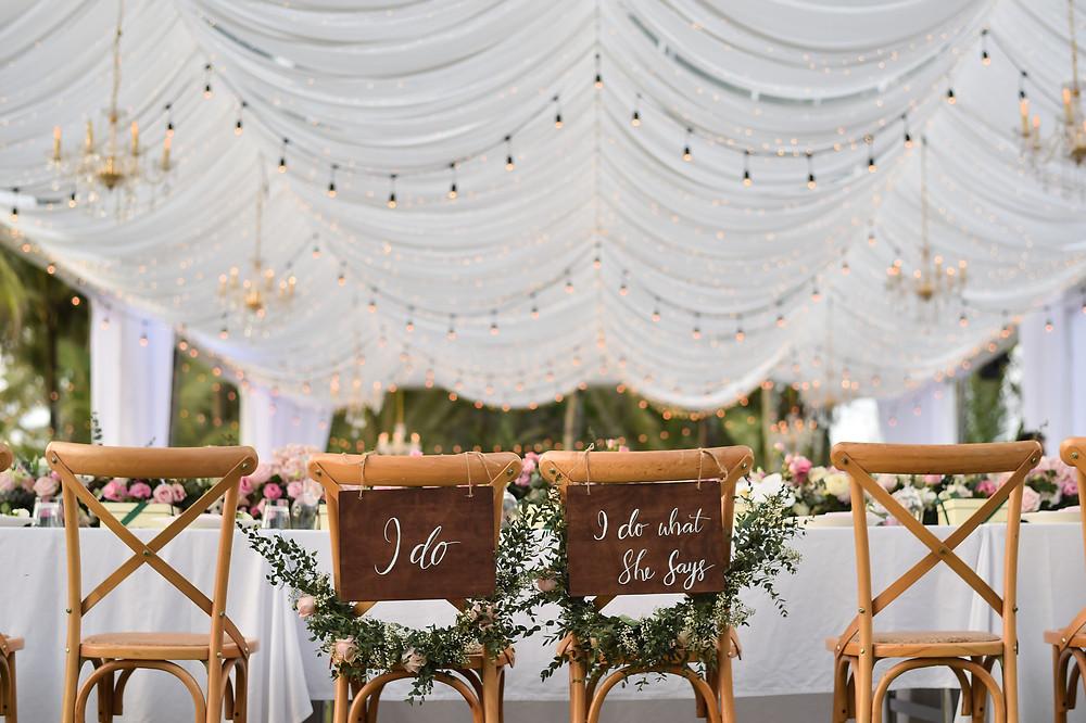 Deko für heiraten im Zelt
