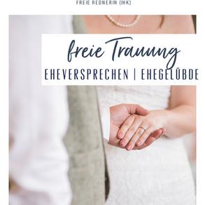 Eheversprechen / Ehegelübde bei der freien Trauung