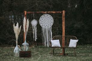 Traubogen Holz mit Traumfänger Wedding W