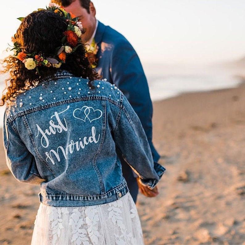 Hochzeitsjeansjacke Must-Have