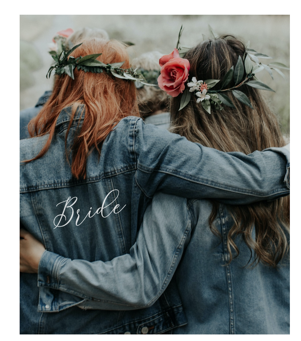 Hochzeitsjeansjacke