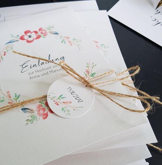 nachhaltige Hochzeitseinladung Wedding Wiesbaden