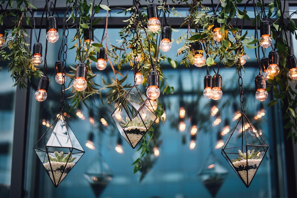 Lichtinstallation Laterne Hochzeit Wedding Wiesbaden