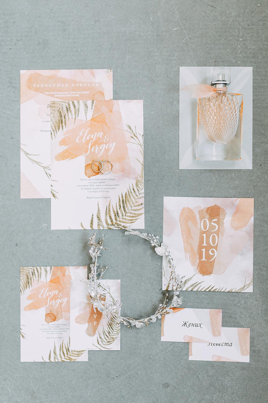 Einladung, Namensschilder, Dankeskarten für Hochzeit