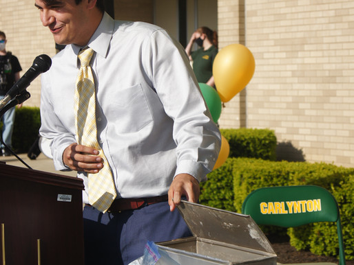 School celebrates despite damaged time capsule