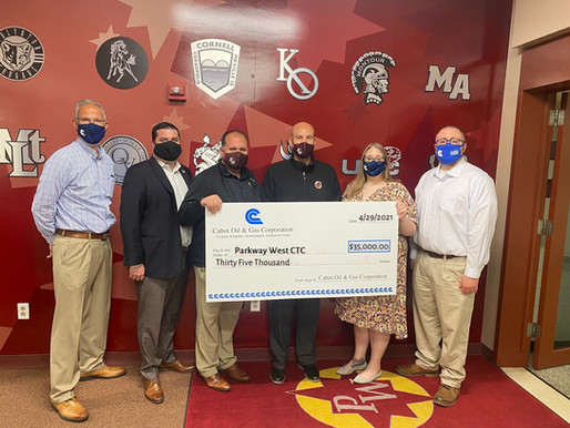 Cabot Oil & Gas donates $35,000 to Parkway West Career and Technology