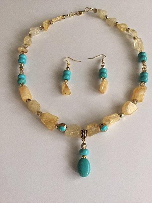NE17-58 Necklace & Earrings Set