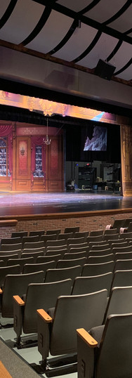 The view of the stage from one of our wings in the house