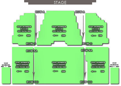 Zionsville PAC Seating Map