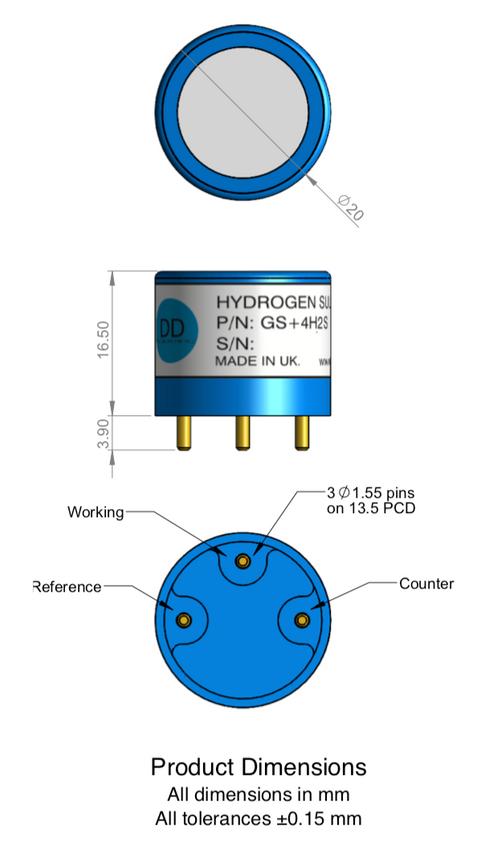 GS+4H2SHO (High Output) Hydrogen Sulphide Sensor