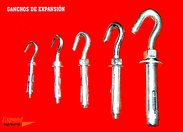 Ganchos de Expansion, Hook Anchors, Chazos, Anclajes