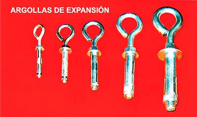 Argollas de Expansion, Eyebolt Anchor, Chazos, Anclajes