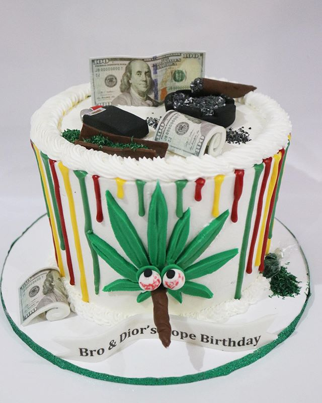 Ganja Themed Cake