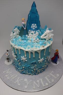 Frozen Themed Drip Cake