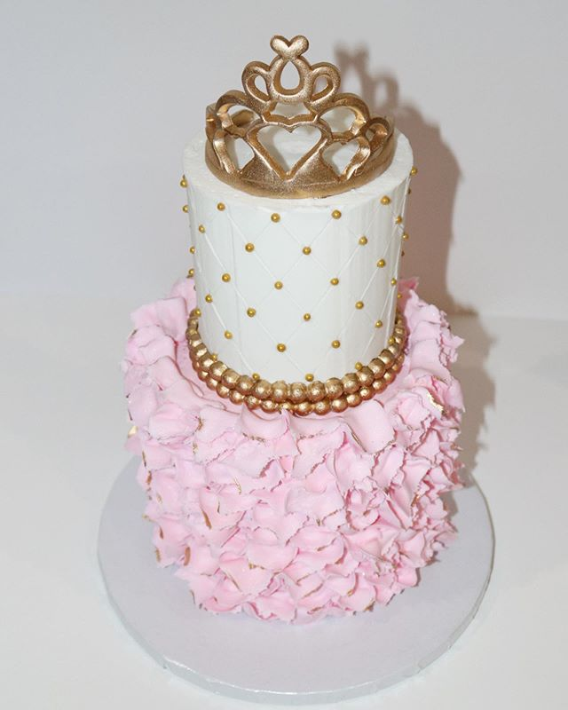 Princess  2 Tier Crown Cake