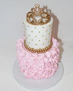 Princess  2 Tier Crown Cake