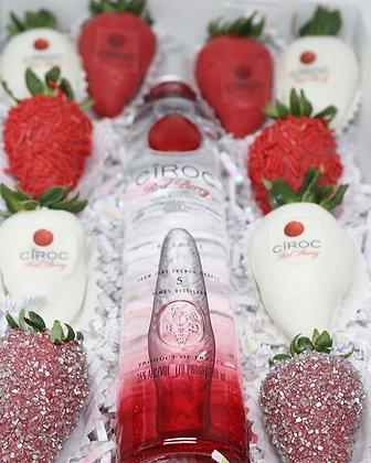 Valentine's Day Berry Ciroc Box