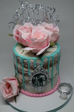 Anniversary Themed Drip Cake