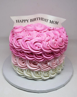 Rosette Pink Ombre Cake
