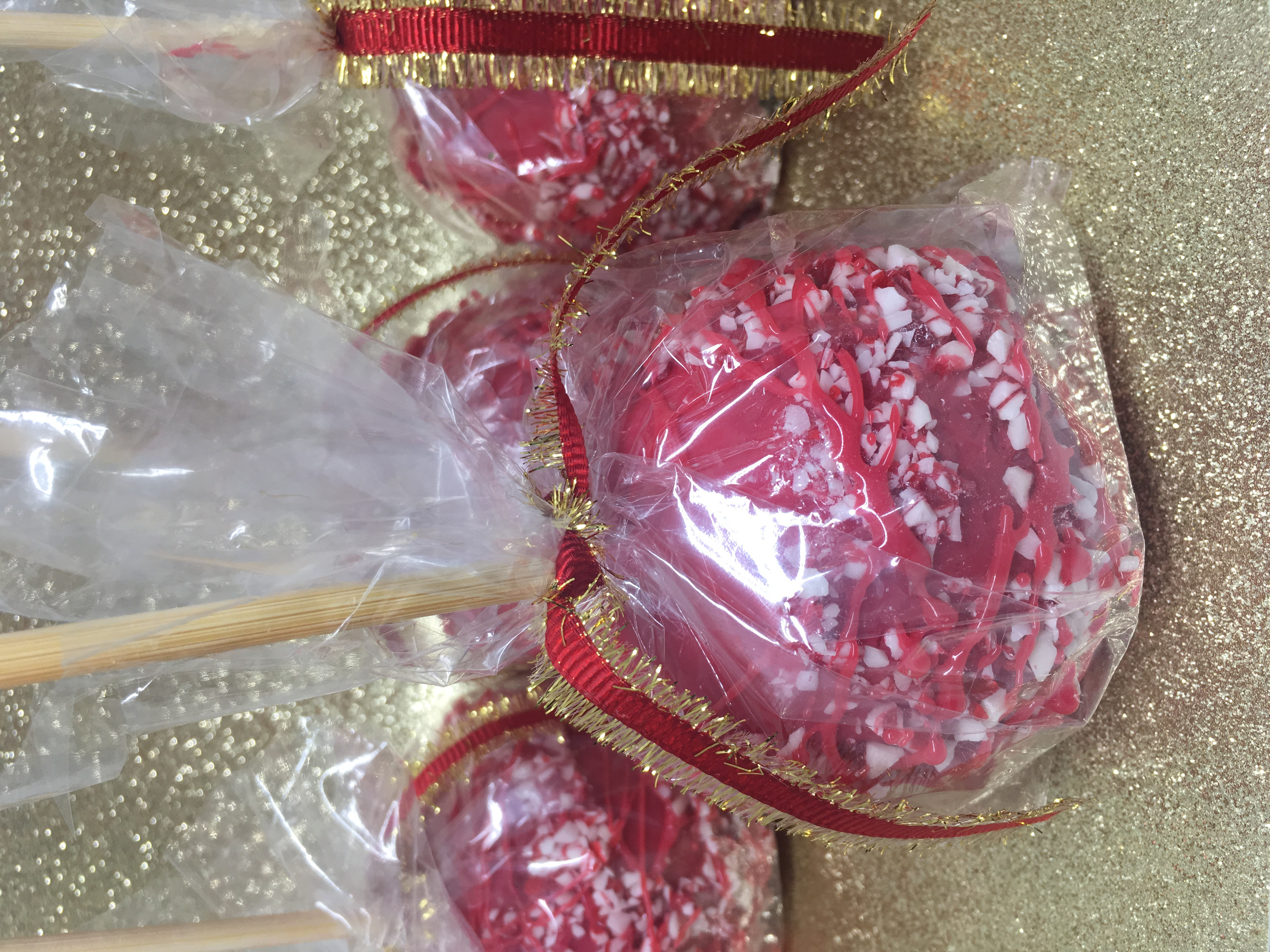 Candy Apples with Peppermint