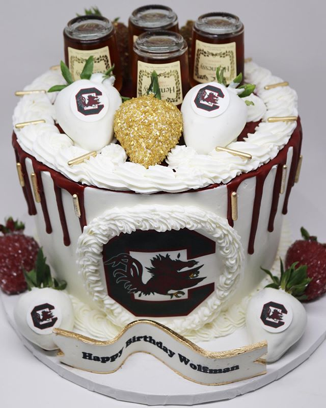 Arkansas Razorbacks Drip Cake
