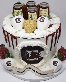 Arkansas Razorbacks Drip Cake