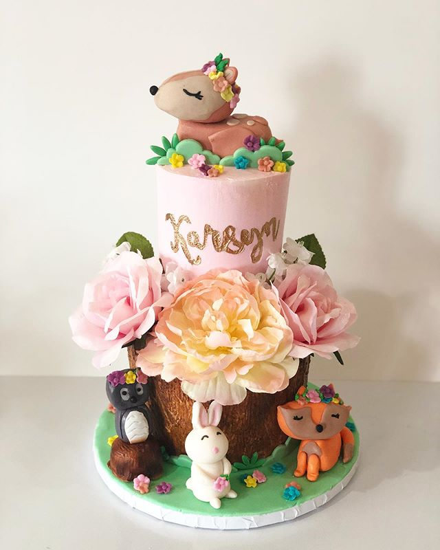 Woodland 2 Tier Cake