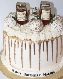 Hennessy Gold Drip Cake