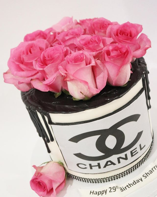 Chanel Flower Box Cake