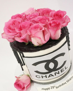 Chanel Flower Box Cake