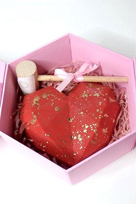 Basic Breakable Gold Splatter Chocolate Heart